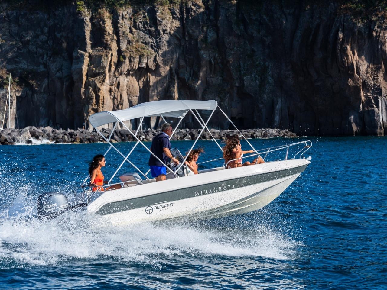 ROMAR MIRAGE 570   Mar Amar Sorrento boat tour